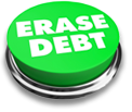 Erase Debt button